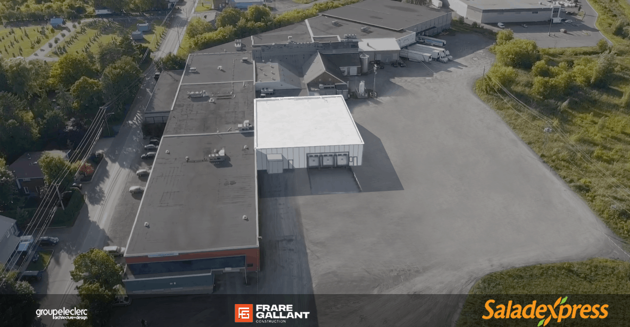 Nouveau projet : Construction de la nouvelle usine Saladexpress